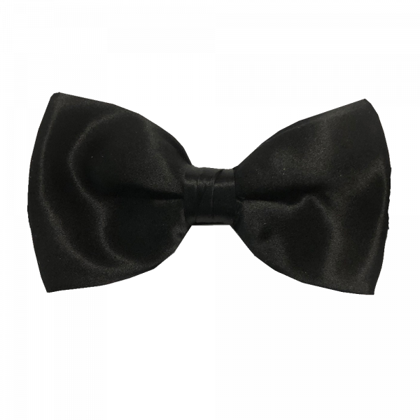 Classic Black Silk Bowtie