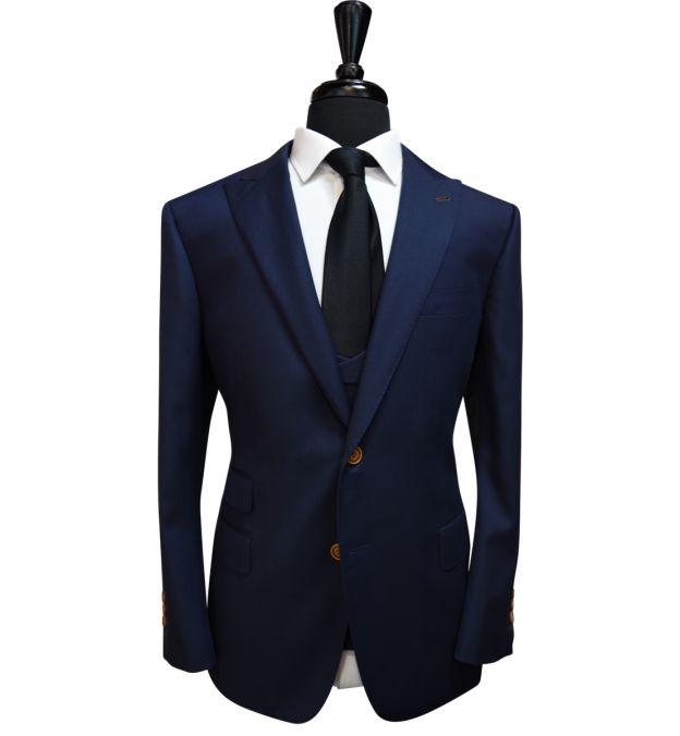 Dark Blue Wool Suit