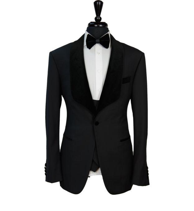 Classic Black Wool Tuxedo