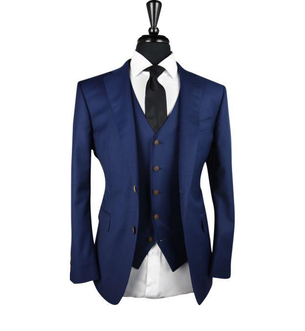 Navy Blue Wool Suit