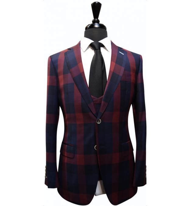 Checker Wool Suit