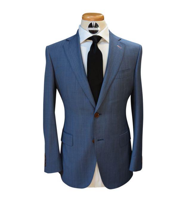 Denim Blue Wool Suit