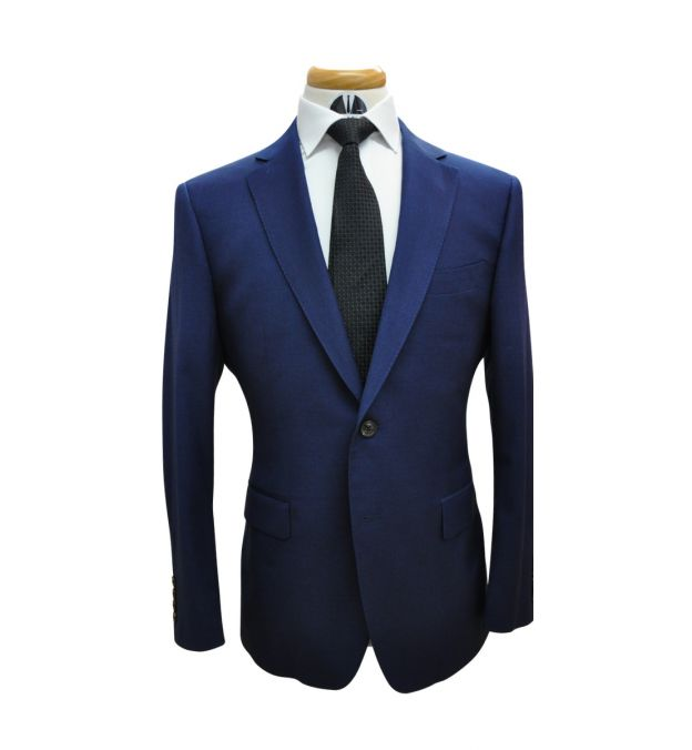 Azure Blue Wool Suit
