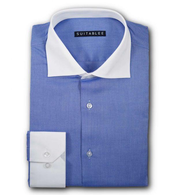 Blue Pinpoint Oxford Dress Shirt