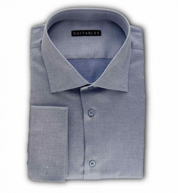 Blue Dobby Dress Shirt