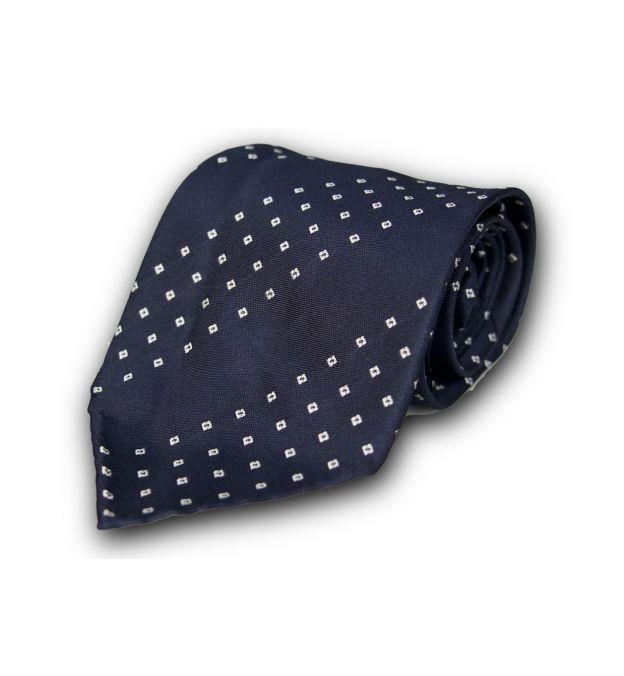 Dark Blue Foulard Silk Tie