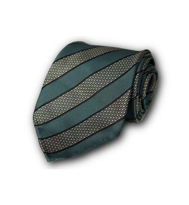 Green Striped Silk Tie