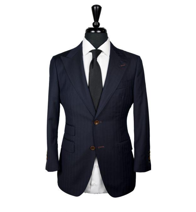 Blue on Blue Stripe Wool Suit