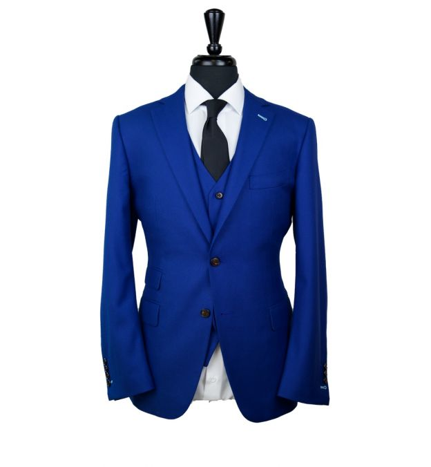 Egyptian Blue Wool Suit