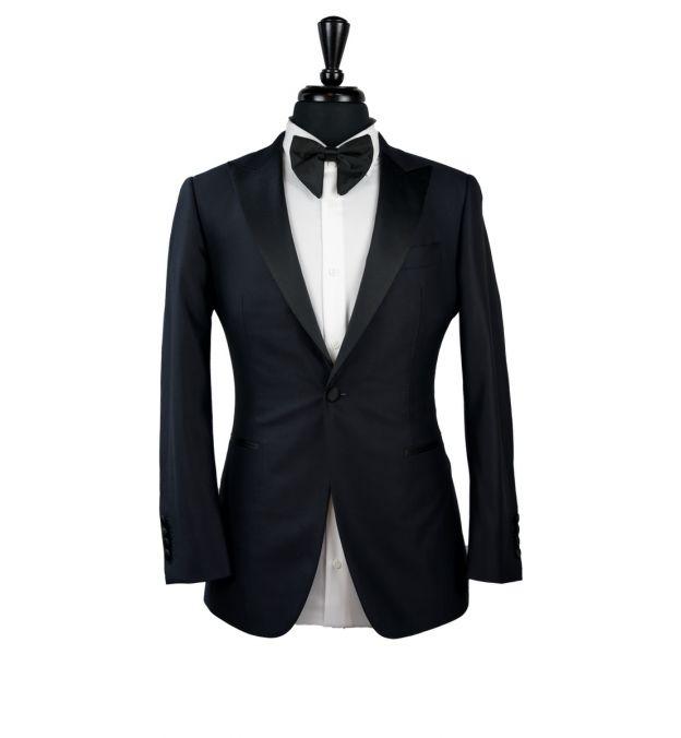 Black Shine Wool Tux