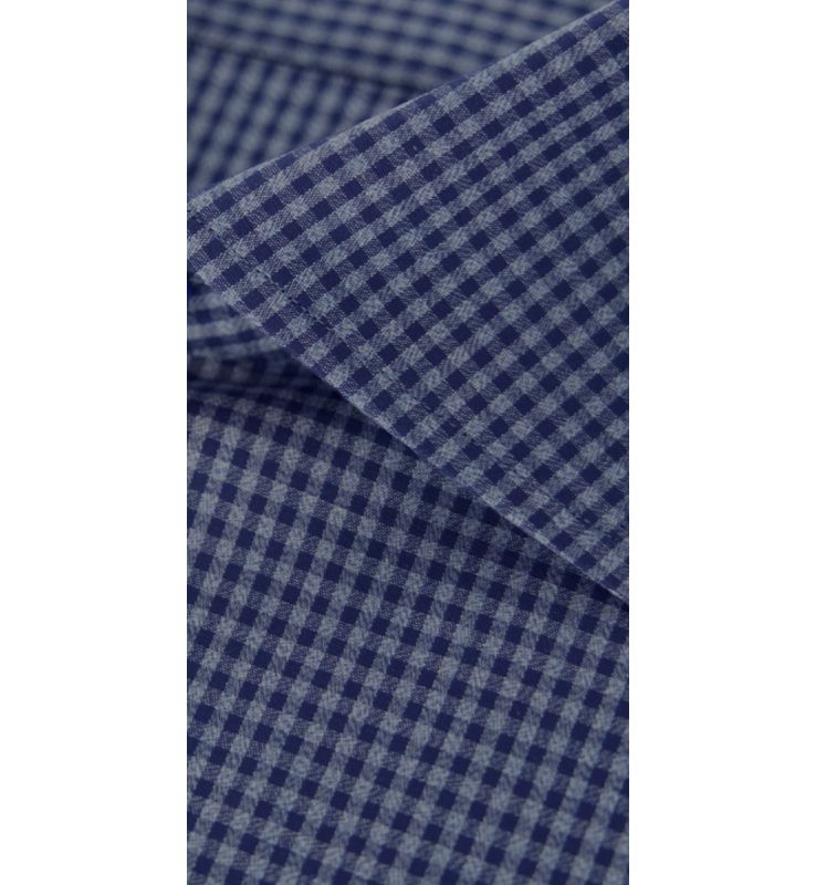 Blue Check Broadcloth Dress Shirt