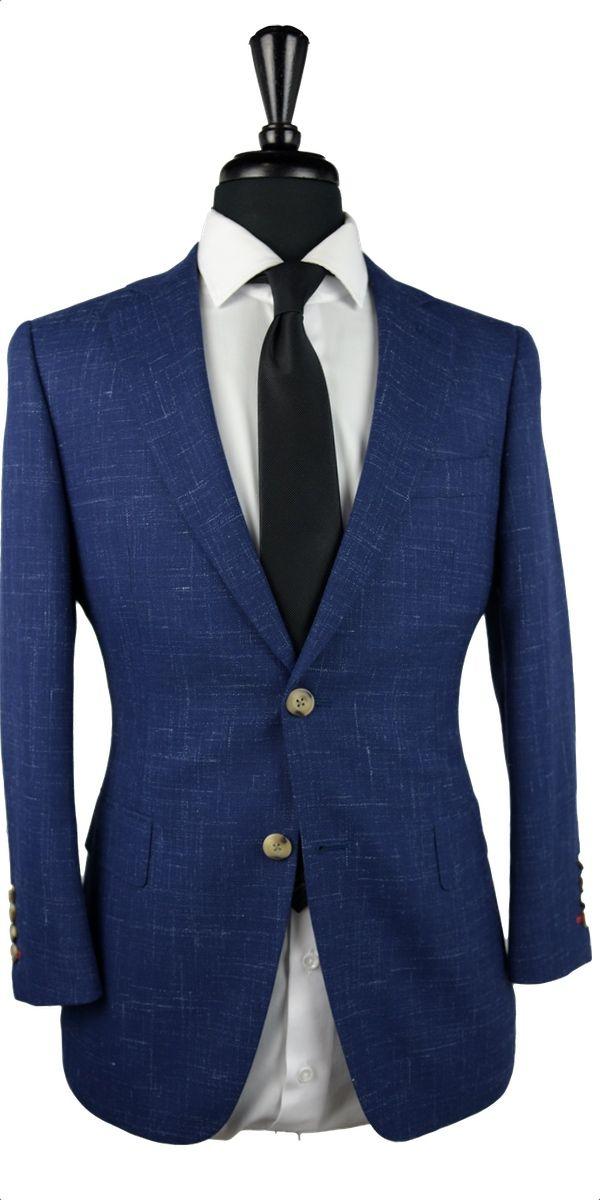 Blue Canvas Wool Suit