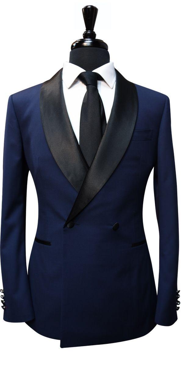 Blue Birdseye Wool Tuxedo