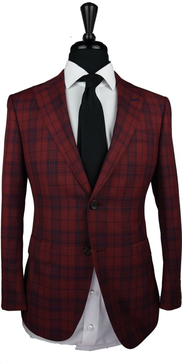 Red Check Wool Suit