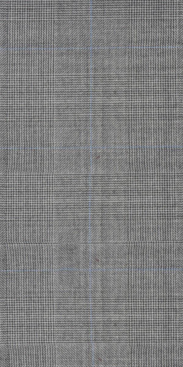 Grey Prince of Wales Wool Suit