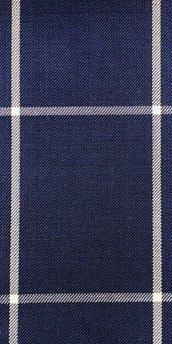 Blue Windowpane Wool Suit