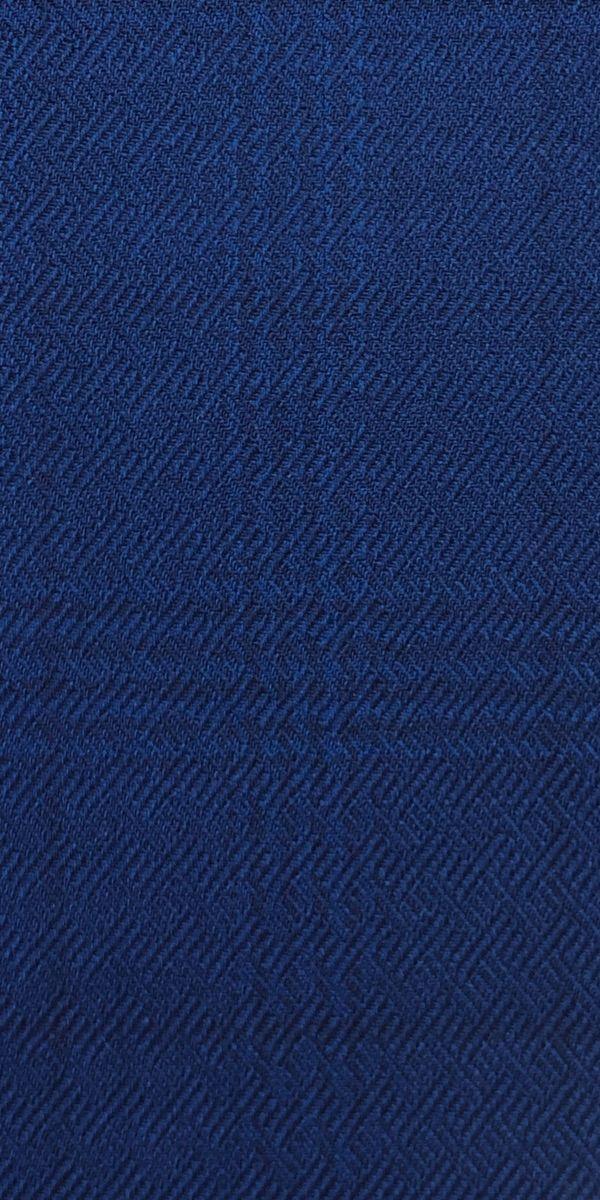 Textured Lapis Blue Check Wool Suit