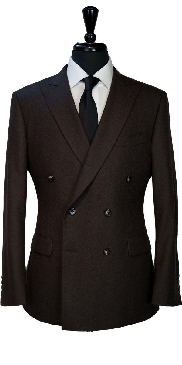 Brown Worsted Wool Suit