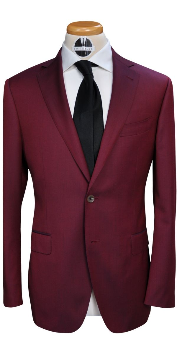 Red Wine Wool Suit