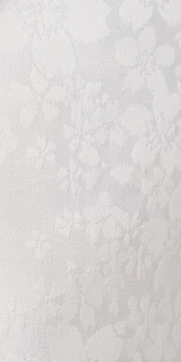 White Floral Jacquard with Black Satin Tux