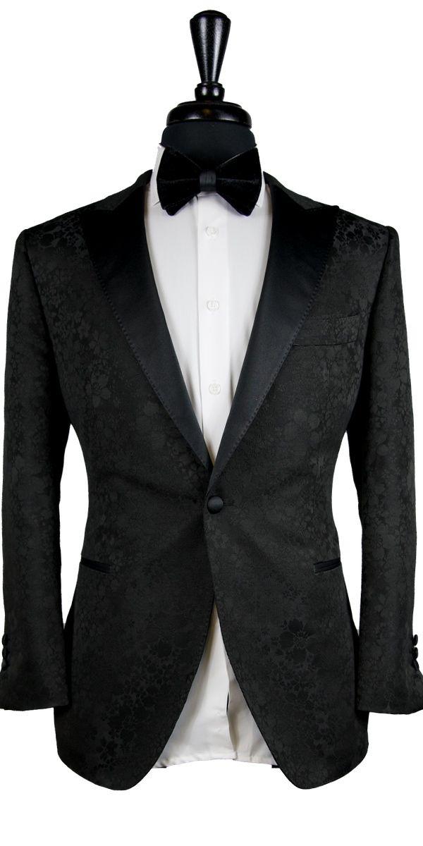 Black Floral Jacquard Tuxedo