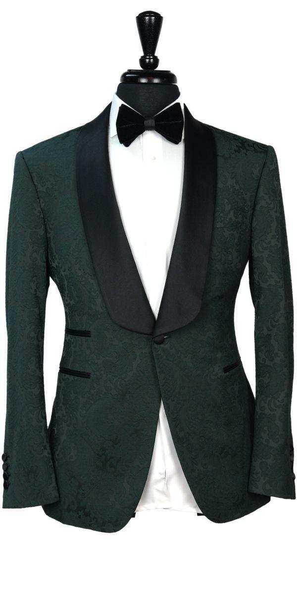 Deep Green Jacquard Tuxedo