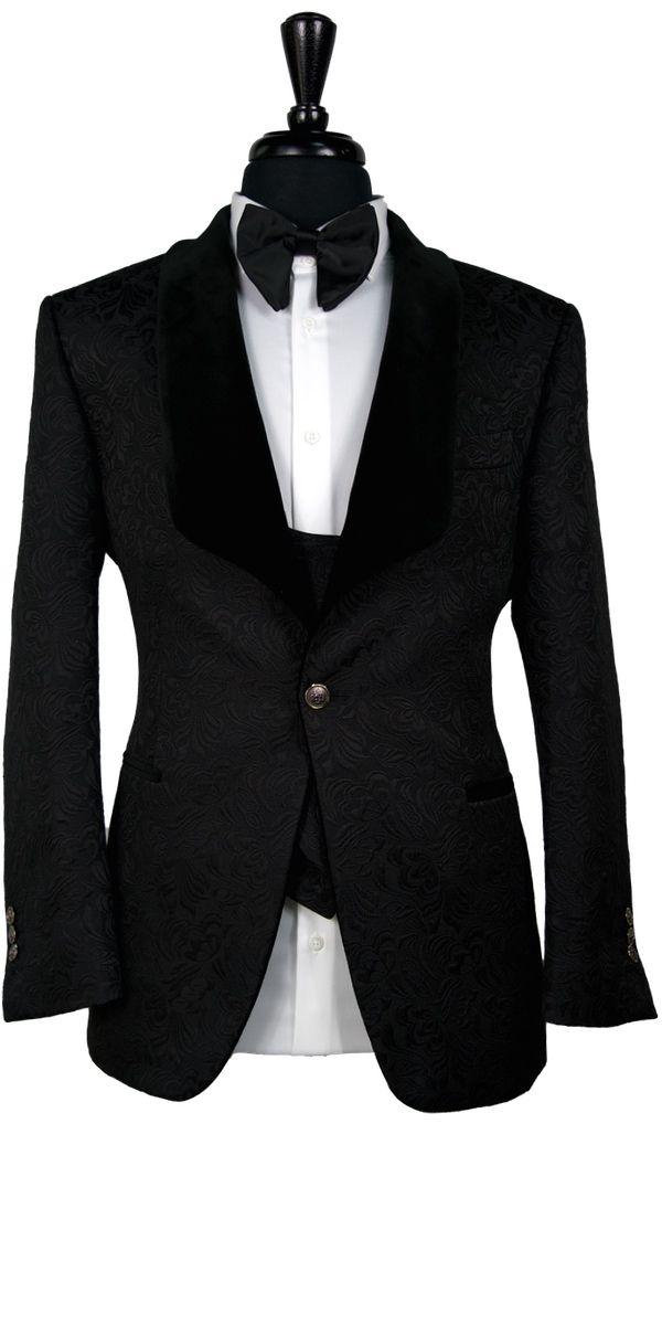Black Jacquard with Velvet Tuxedo