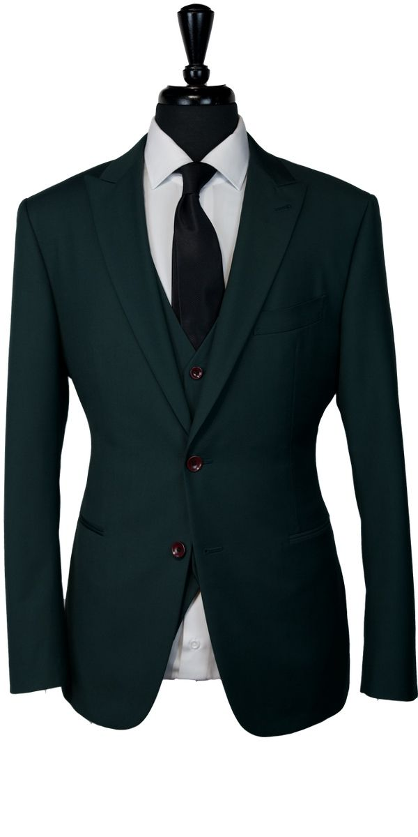 Forest Green Wool Suit
