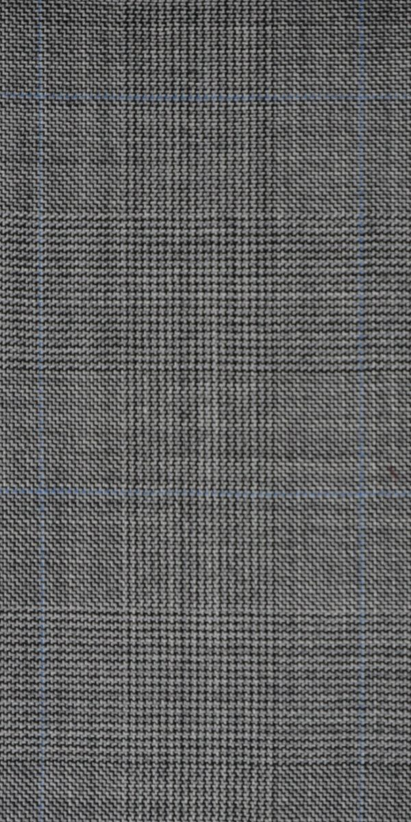 Grey Prince of Wales Glencheck Wool Suit
