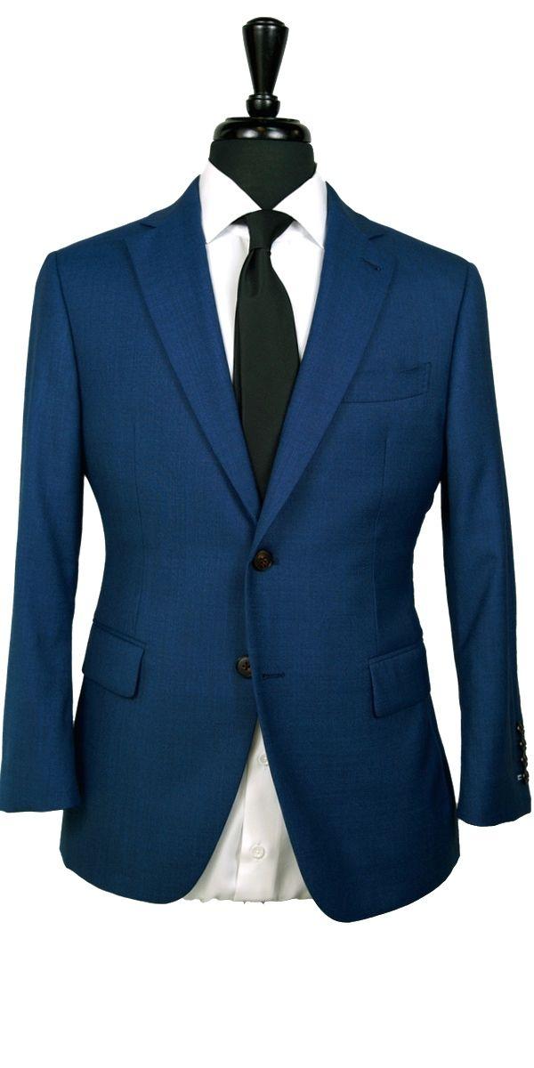 Prussian Blue Wool Suit