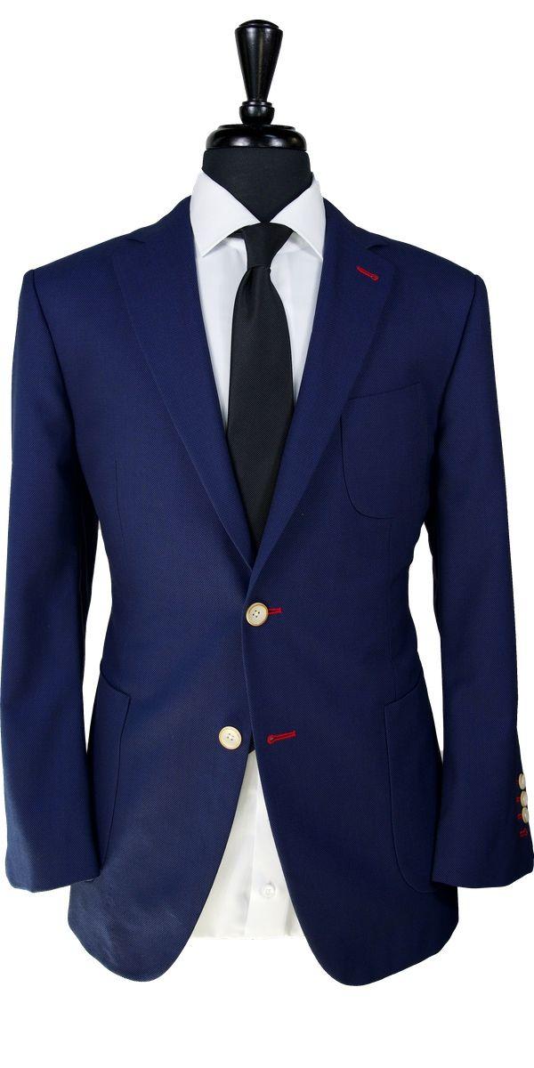 Classic Blue Birdseye Wool Suit