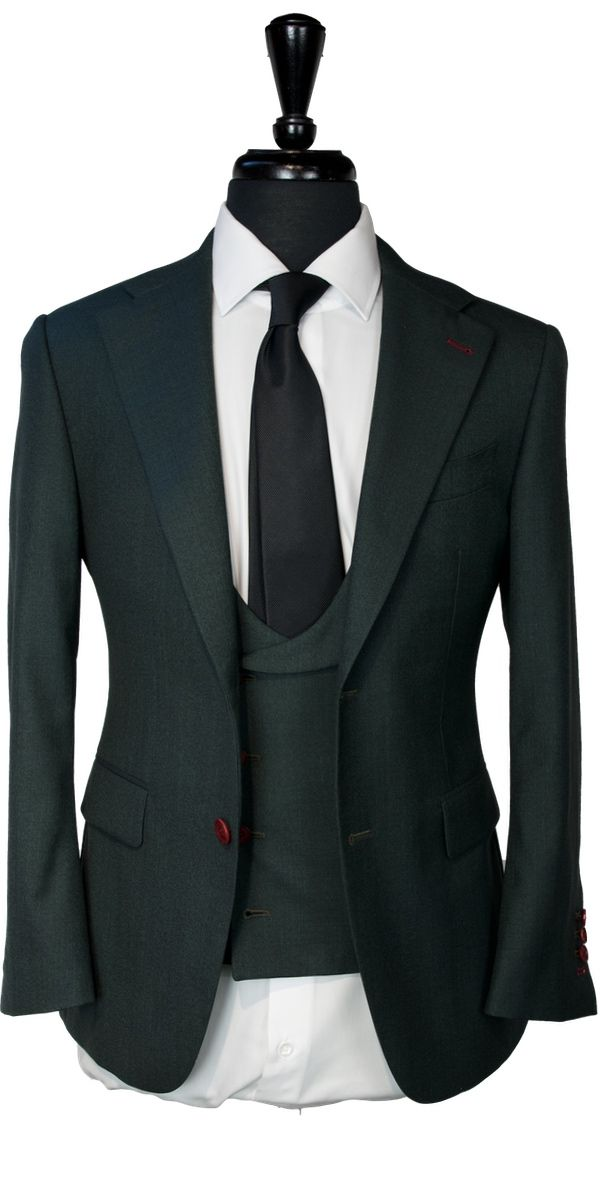 Dark Green Wool Suit