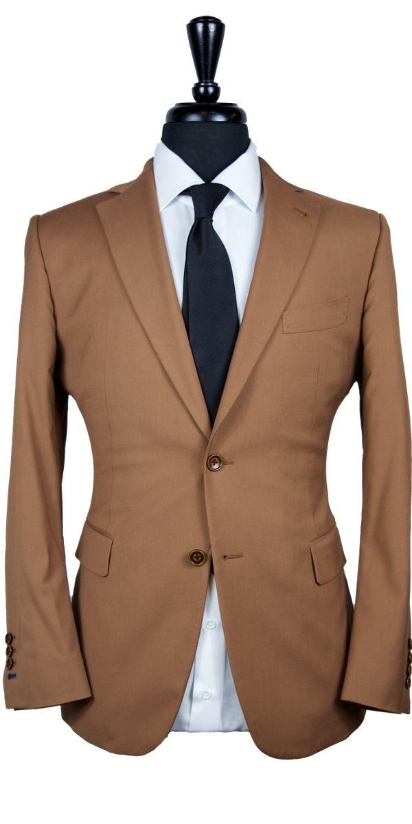 Tawny Brown Wool Suit