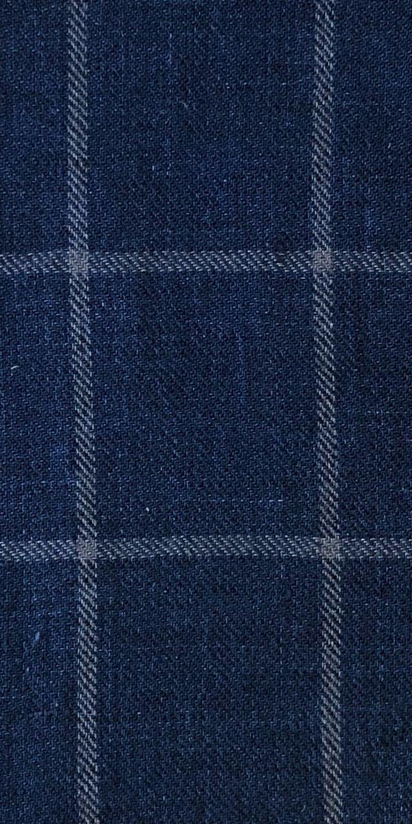 Navy Blue Windowpane Suit
