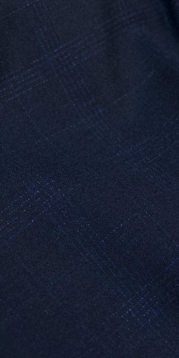 Dark Blue Check Wool Suit