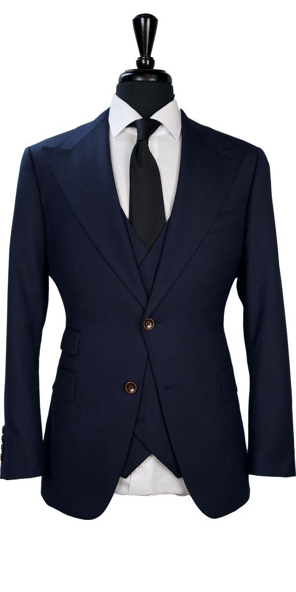 Oxford Blue Birdseye Wool Suit