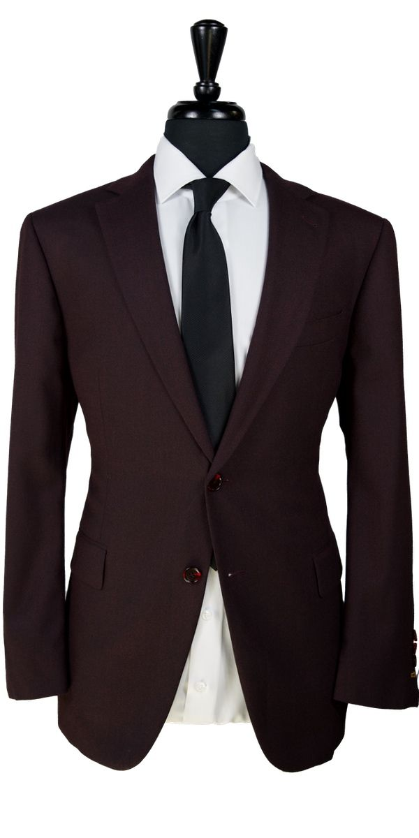 Raisin Melange Wool Suit