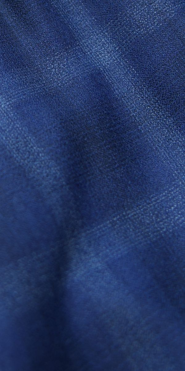 Navy Blue Check Wool Suit