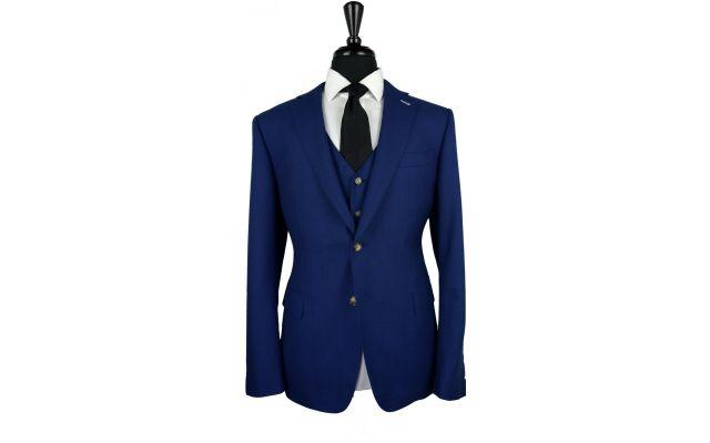 Egyptian Blue Birdseye Wool Suit