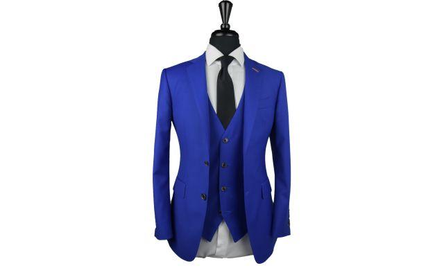 Electric Blue Wool Suit