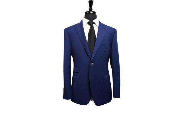 Classic Royal Blue Wool Suit
