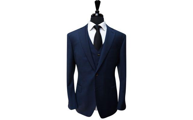 Space Blue Wool Suit