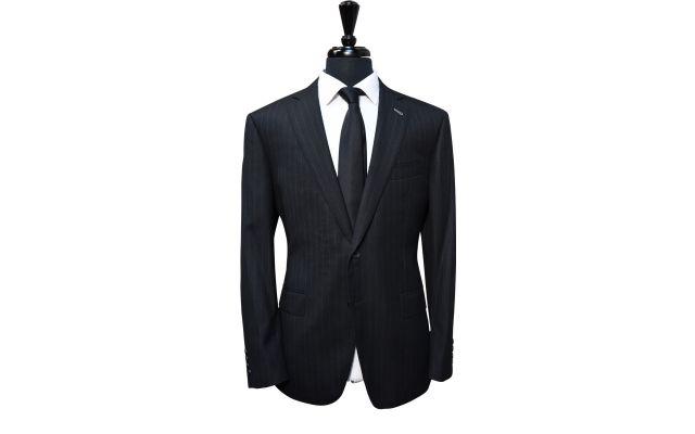 Charcoal Subtle Pinstripe Wool Suit