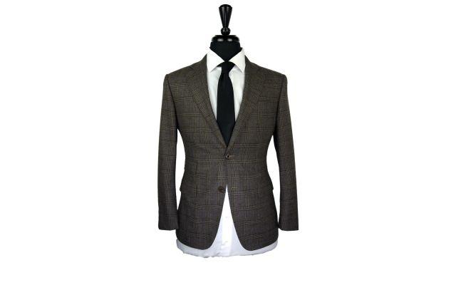 Brown Glen Plaid Wool Suit