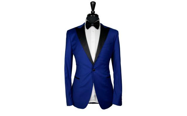 Dark Azure Wool Tuxedo
