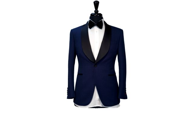 Blue Polka Dot Birdseye Tuxedo