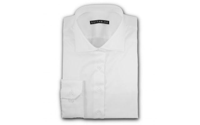 White Twill Dress Shirt
