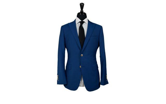 Sapphire Blue Wool Suit