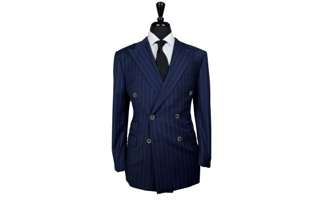 Oxford Blue Pinstripe Wool Suit
