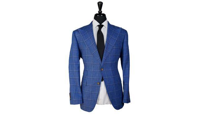 Sapphire Blue Windowpane Suit